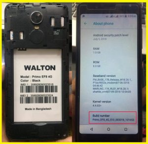 Walton Primo EF8 4G Flash File Firmware Download