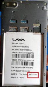 Lava Iris 51 S117Flash File