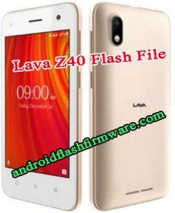 Lava Z40 Flash File Firmware Download
