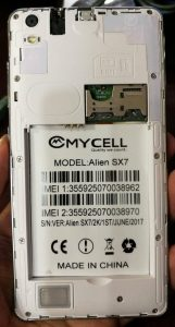 Mycell Alien SX7 Flash File Firmware Download