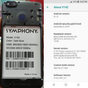 Symphony V142 Flash File