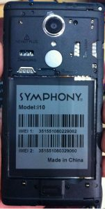 Symphony i10 Flash File Firmware