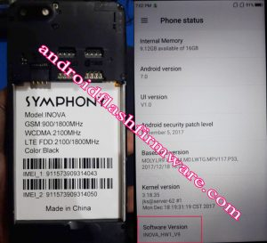 Symphony inova Flash File Firmware Download