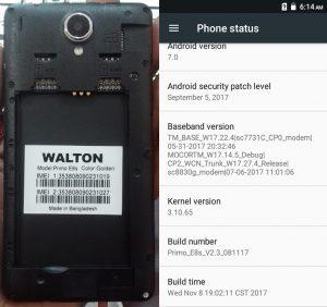 Walton Primo E8s Flash File Firmware Download