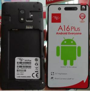 iTel A16 Plus Flash File