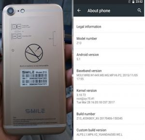 Smile Z13 Flash File Firmware Download