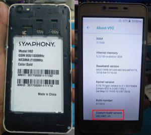 Symphony V92 Flash File