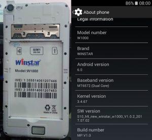 Winstar W1000 Flash File
