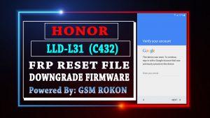 Honor LLD-L31 Frp Reset