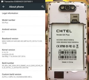 Cktel G5 Plus Flash File Firmware Download