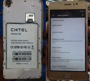 Cktel S9 Flash File Firmware Download