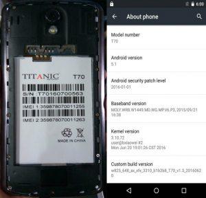 Titanic T70 Flash File MTK