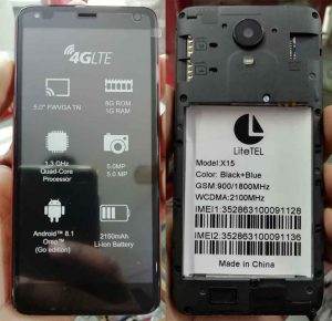 Litetel X15 Flash File Firmware Download