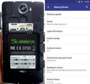 Summer S1 Flash File Firmware Download