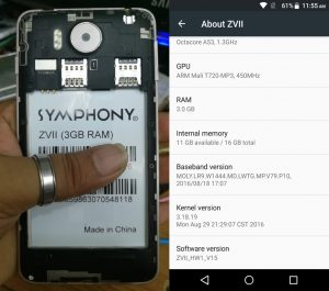 Symphony ZVII Flash File 3GB