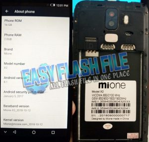 Mione X2 Flash File Firmware Download