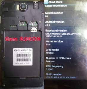 Cubot P6 Flash File Firmware Download