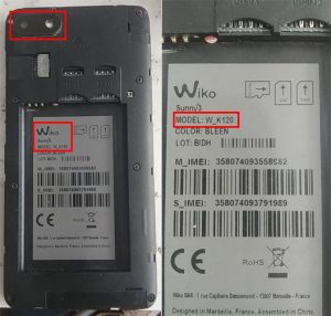 Wiko Sunny3 W_K120 Flash File Firmware