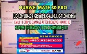 Huawei Mate 30 Pro Huawei ID Remove Service